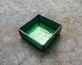 Stained Glass Box in Green