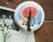 Wall Hook Made From A Vintage Children's Book, Rain Rain Go Away, Retro Shabby Chic Nursery Decor, Kid Themed Wall Hanger