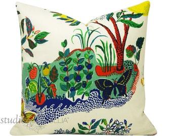 Schumacher Pillow Cover - Citrus Garden -  Josef Frank - 20X20 - linen - floral - butteflies - ready to ship