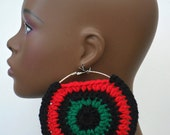 Ready to Ship Clearance Pan-African Mega Mama 5 inch Light Weight Earrings by Razonda Lee Razondalee