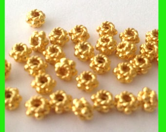 20pcs gold plated 925 stelring silver mini roundel bead spacer VS20