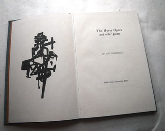 Mac Hammond Signed Book The Horse Opera Poems Poetry 1960s 1966