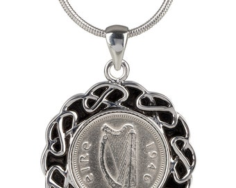 71st Gift for Women - 1946 Lucky Irish Coin Pendant - 100% satisfaction  - Presentation & snake chain  included