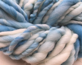 Handspun Art yarn hand spun hand dyed bulky knitting supplies crochet supplies Waldorf doll hair wool merino