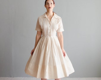 Vintage 1950s Dress - 50s Shirtwaist Dress - Just a Dash Dress
