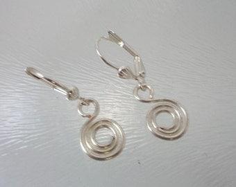 Silver Wire Drop Earring