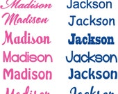 Monogram Name Fabric Decal REUSABLE Decals Non-toxic Fabric Wall Decals for Kids