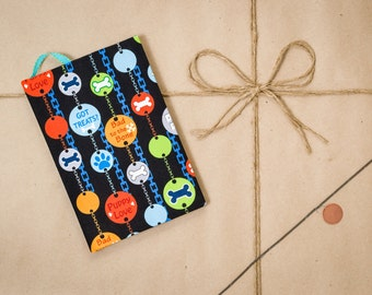 Got treats?, colorful, blue, Agility journal, hard cover, handmade, speciality notebook