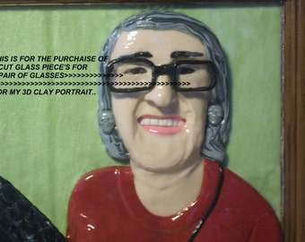 "10 Dollar,1 PAIR of Cut Glass For Glasses, 1 PAIR of Cups, NOTE""""For Your Clay Portrait"""""
