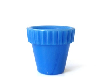 Vintage Blue Agate Flower Pot