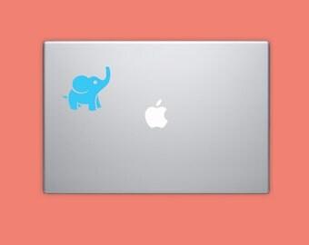 CARTOON ELEPHANT STICKER, MacBook decal, Laptop Decal, Computer Decal, Die Cut Decal, Vinyl Sticker
