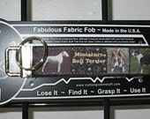 Miniature Bull Terrier AKC Terrier Group Dog Pup ~ M70 ~ Key Chain Fob ~ Zipper Pull