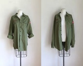 reserved /// vintage 60s boy scout shirt - BOY SCOUT of AMERICA army green button down