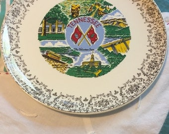 Vintage Tennessee Souvenir Luncheon Plate Made in The USA #3779