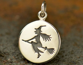 Witch Charm - Sterling Silver