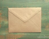 """100 A7 Pointed Flap Kraft Envelopes 5 1/4"""" x 7 1/4"""" (133x184mm), grocery bag kraft brown envelopes, 5x7 envelopes, invitation triangle flap"""