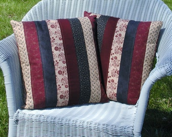 Americana Quilted Pillow Covers - Set of 2 Decorative Pillow Covers