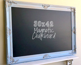 Dining Room Wall Decor MAGNETIC CHALKBOARD French Blue Wedding Decor Gold Wedding Menu Teal Turquoise Kitchen Wall Decor Magnet Memo Board