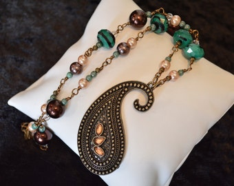 Paisley Necklace & Earring Set