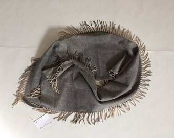 faded grays scarf | made in Germany large fringed scarf
