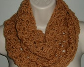 crochet infinity cowl neck scarf (ref 353122)