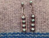 Turquoise Earrings, Silver Earrings, Southwestern Earrings