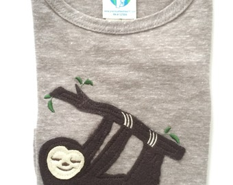 Sloth Applique Etsy