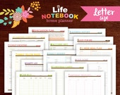 The Life Notebook Planner Letter Size (DOWNLOADS ONLY)
