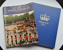The Queen Elizabeth Coronation Souvenir Book, 1953, British Royal Family, Pictorial Book, Historical Book, Colour Pictures, Black And White