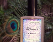 Natural Cologne For Men BOHEMIAN GROVE- Cypress, Cedarwood, Amyris, Tonka Bean, Fossilized Amber, Tobacco, Jasmine, Lime