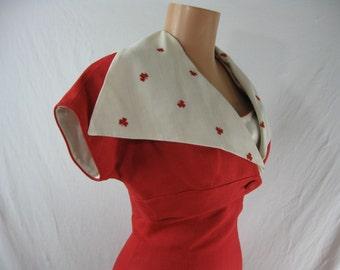 Vintage Don Loper Originals Wiggle Dress Crop Jacket Linen XS