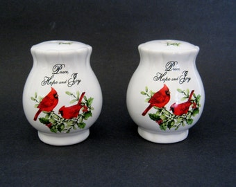 Salt And Pepper Shakers Cardinals Peace Hope And Joy