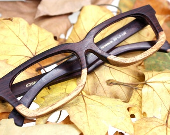 unique  customize  Paris AUTUMN two tone ebony wood glasses frames watches  best of best  from TAKEMOTO