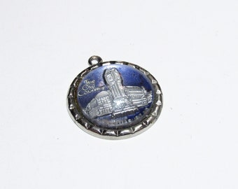 Vintage silver Busch Gardens Williamsburg Virginia Blue Travel charm The Old Country