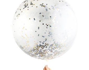"Confetti Balloon / Jumbo Metallic 36"" Balloon"