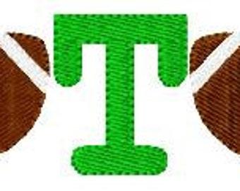 Football // Mini Monogram Machine Embroidery Design // Sports // Embroidery Font Set // Joyful Stitches