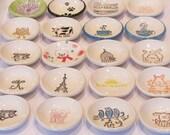 40 owl ceramic tea bag dishes