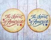 Americana Stickers Fourth of July Envelope Seals The Spirit of America