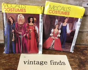 Vintage McCalls Medieval or Renaissance Adult Costumes 1 of 2