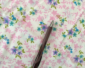 Fabric Destash 5 yds available Pink Purple Floral Cotton Quilting Clearance