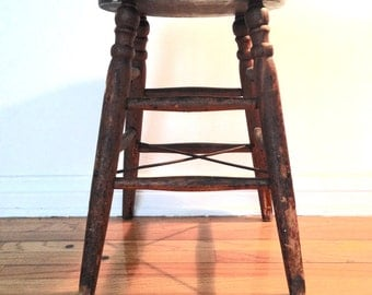 Antique Farmhouse Stool