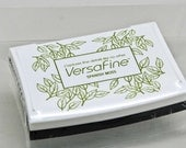 VersaFine Stamp Pad -- Spanish Moss -- No Refill Needed Long Lasting Captures fine details like no other