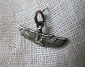 Egyptian Goddess Isis with Egypt Hallmark in Sterling Charm or Pendant