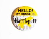 Geeky Pinback Buttons Badger Yellow Accessories Hogwarts Fandom Apparel