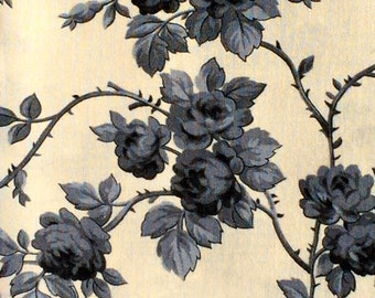 SALE : Robyn Pandolph gray roses St. Remy de Provence RJR fabrics FQ or more