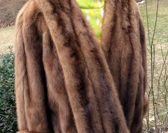 Fur Cape-Shrug Fall For Winter Bride Fully Lined Mink Mink Evening Jacket-Shrug Hollywood Starlet Glamorous Fur LUX Fur