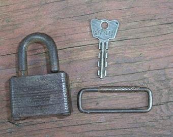 Vintage Master Lock Masterlock Lock and Key #349