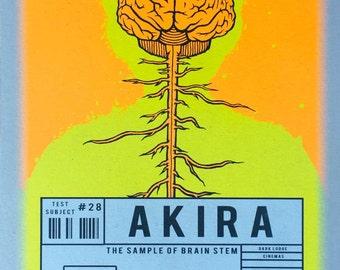 Akira Screen Printed Handmade Movie Poster