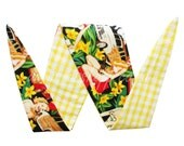 Pin Up vs Red Check OR Yellow Check OR White with Red Spot Reversible Bandana