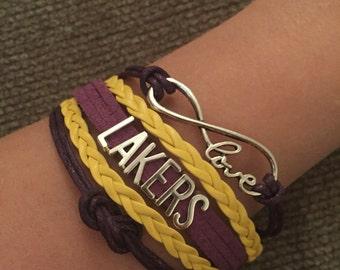 Los Angeles Lakers Inifnity Bracelet